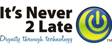 It's Never 2 Late Logo