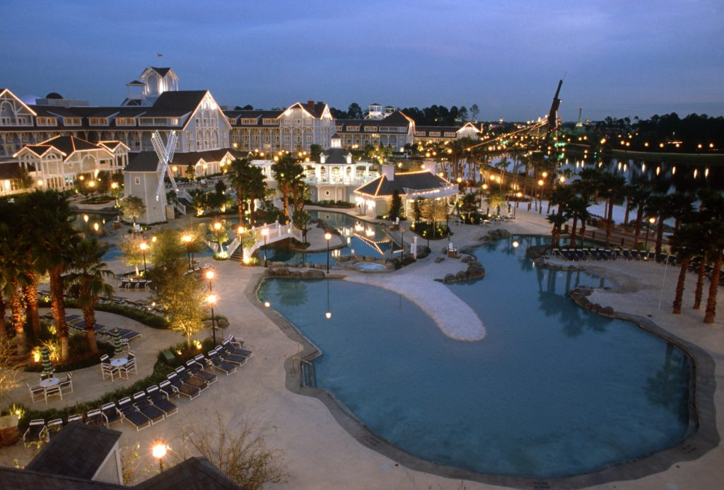 Disney's Beach Club Reort at Night