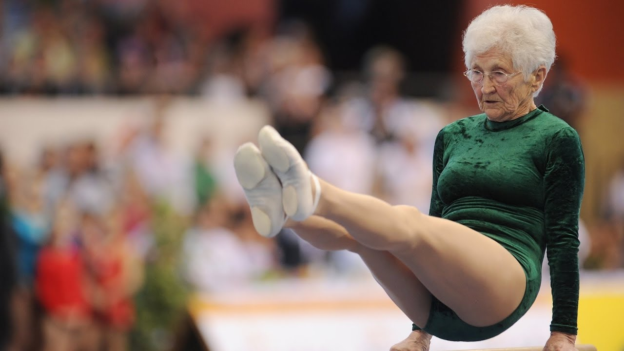 91 Year Old Gymnast Completes Impressive Routine