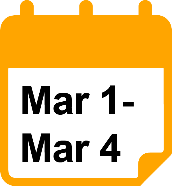 March 1 - 4